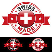 Swiss Made Badge — Stock Vector