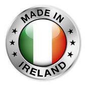 Feita no distintivo Irlanda prata — Vetor de Stock