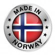 Made In Norway Silver Badge — Stok Vektör #34957003