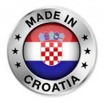 Made In Croatia Silver Badge — Stock Vector #35749699