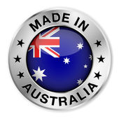 Made In Australia Silver Badge — Stock Vector