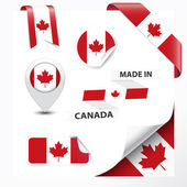Made In Canada Collection — Stock Vector