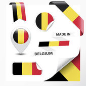 Made In Belgium Collection — Stock Vector