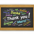 Stock Photo: International Thank You Chalkboard