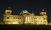 Berlin Reichstag Building At Night — Stock Photo
