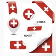 Swiss Made Symbol Collection — Stock Vector #39804309