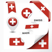 Swiss Made Symbol Collection — Stock Vector
