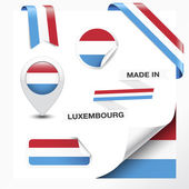 Made In Luxembourg Collection — Stock Vector