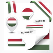 Made In Hungary Collection — Stock Vector