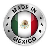 Made In Mexico Silver Badge — Stock Vector