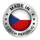 Hecho en república checa placa — Vector de stock