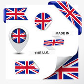 Made In The United Kingdom Collection — Stock Vector