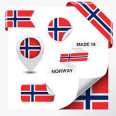 Made In Norway Collection — Stock Vector