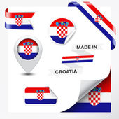 Made In Croatia Collection — Stock Vector