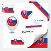 Made In Slovakia Collection — Stock Vector