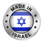 Made In Israel Silver Badge — Stock Vector