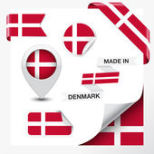 Danimarka koleksiyonu içinde yapılan — Stok Vektör