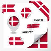Made In Denmark Collection — Stock Vector