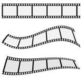 Cinema Film Strip Set — Stock Vector