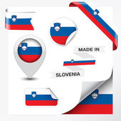 Made In Slovenia Collection — Stock Vector