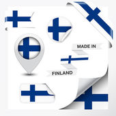 Made In Finland Collection — Stock Vector