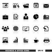 Iconos del asunto y de la oficina fijados — Vector de stock