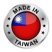 Hecho en taiwán — Vector de stock