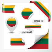 Made In Lithuania Collection — Stock Vector