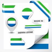 Made In Sierra Leone Collection — Stock Vector