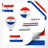 Made In Paraguay Collection — Stock Vector