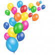 Colorful Balloons Party Vector Background — Stock Vector #47235283