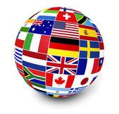 International Business World Flags — Stock Photo