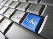Jak web portal społecznościowy facebook klucz — Zdjęcie stockowe