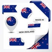 Made In New Zealand Collection — Stock Vector
