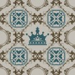 Seamless Vintage. Wallpaper Pattern. Vector — Stock Vector #12183493