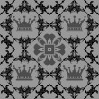 Seamless Vintage. Wallpaper Pattern. Vector — 图库矢量图片