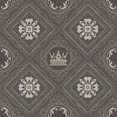 Seamless Vintage. Wallpaper Pattern. Vector — Stock Vector
