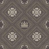 Seamless Vintage. Wallpaper Pattern. Vector — Stock Vector