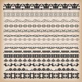 границы. набор для дизайна. каллиграфические — Cтоковый вектор