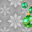 Christmas decorations on a gray background - Stock Vector