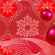 Christmas decorations in red background — Stock Vector #12196800