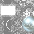 Stock Vector: Christmas decorations on a gray background