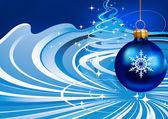Julpynt på blå bakgrund — Stockvektor