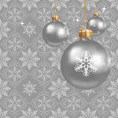 Decoraciones de la navidad sobre un fondo gris — Vector de stock