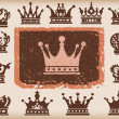 Royalty-Free Stock Vectorielle: Crown. Vector set. Collection icons