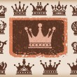 Royalty-Free Stock Imagem Vetorial: Crown. Vector set. Collection icons