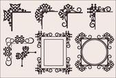 Elementy dekoracyjne. kąty. wektor zestaw. — Wektor stockowy