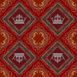 Seamless Vintage. Wallpaper Pattern. Vector — Stockvectorbeeld