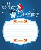 Tarjeta de navidad. letras de navidad feliz — Vector de stock