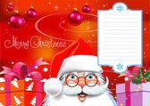Weihnachtskarte. frohe weihnachten-schriftzug — Stockvektor